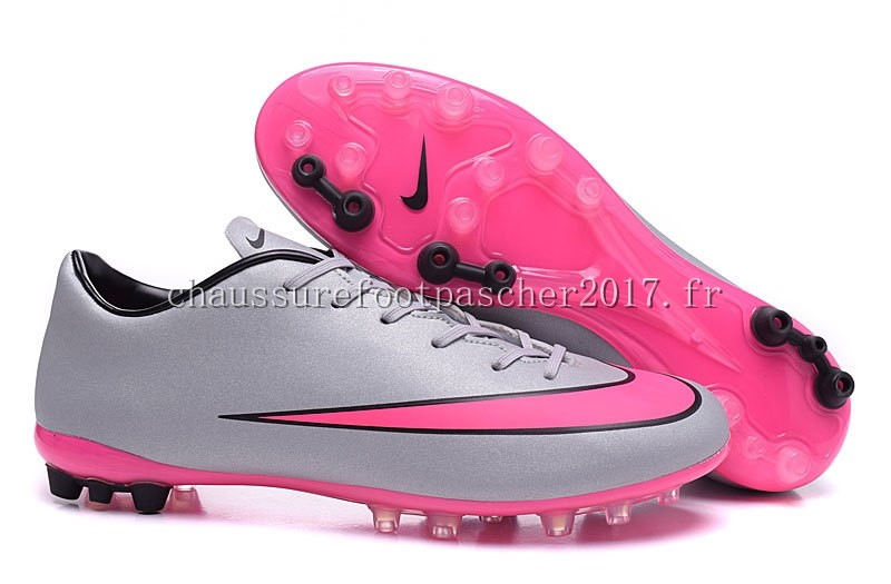 Nike Chaussure De Foot Mercurial X Victory AG Gris Rouge