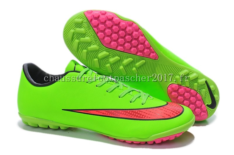 Nike Chaussure De Foot Mercurial X Victory TF Vert Rouge