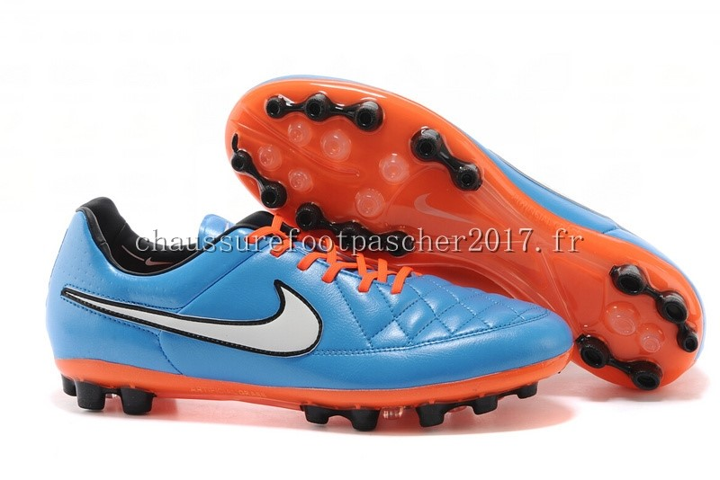 Nike Chaussure De Foot Tiempo Legend V AG Orange Bleu Blanc Orange