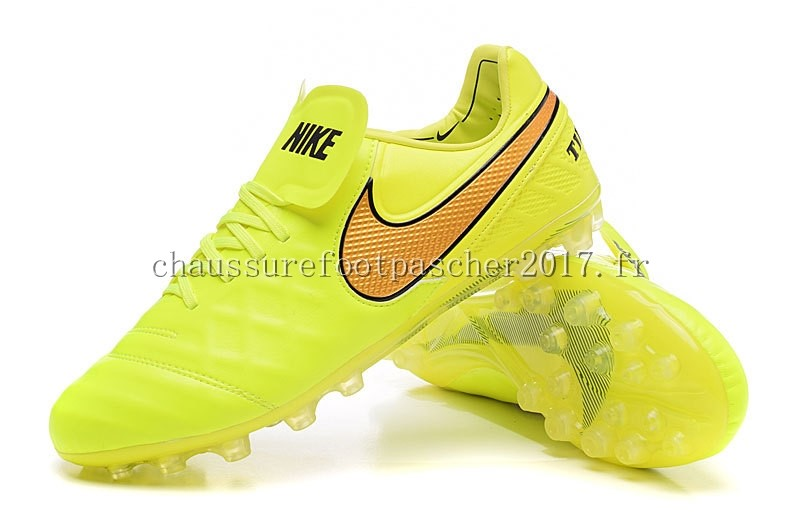 Nike Chaussure De Foot Tiempo Legend VI AG Vert Fluorescent Orange