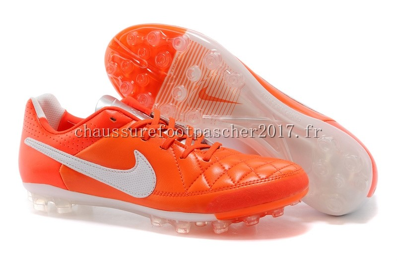Nike Chaussure De Foot Tiempo Mystic V AG Rouge Blanc