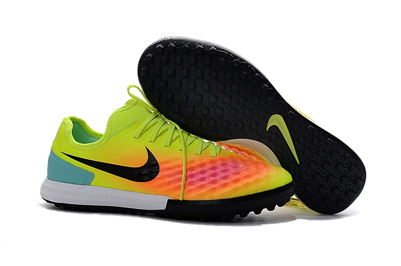 Nike Chaussure De Foot MagistaX Finale II TF Jaune Orange Noir