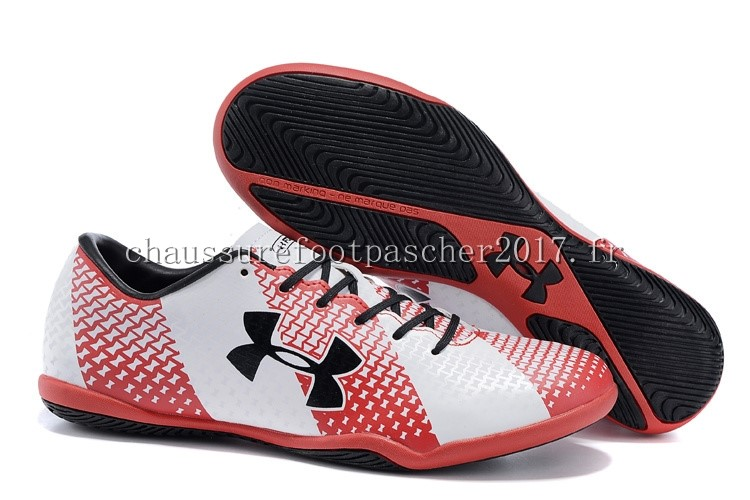 Under Armour Chaussure De Foot Clutchfit Force INIC Noir Rouge Blanc