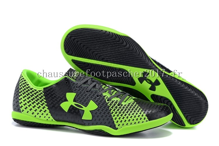 Under Armour Chaussure De Foot Clutchfit Force INIC Vert Fluorescent Noir