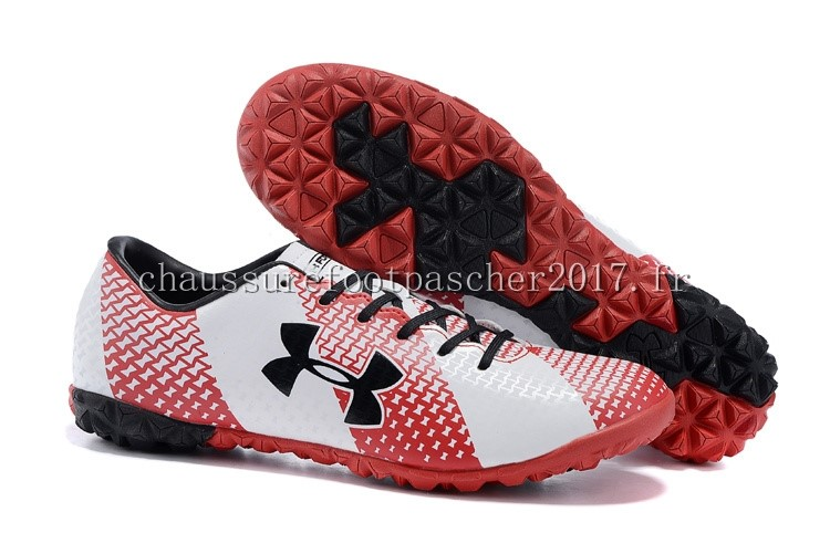 Under Armour Chaussure De Foot Clutchfit Force TF Noir Rouge Blanc