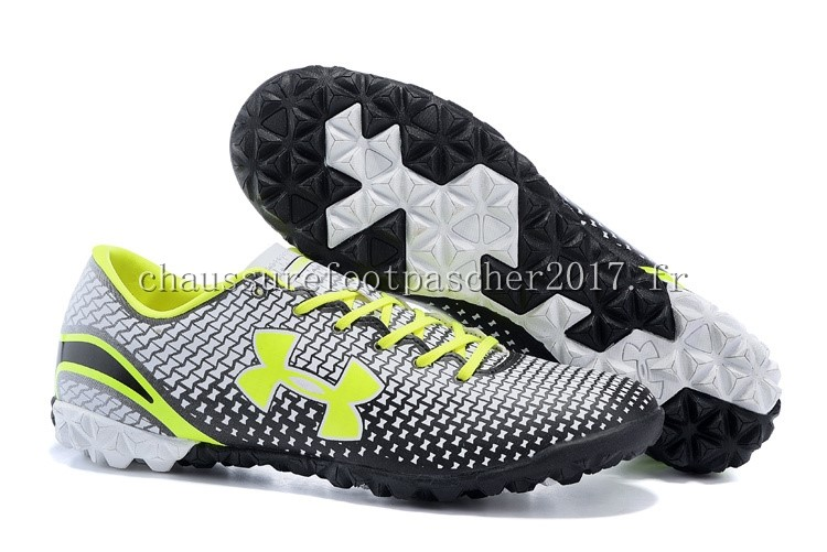 Under Armour Chaussure De Foot Clutchfit Force TF Vert Fluorescent Noir Blanc