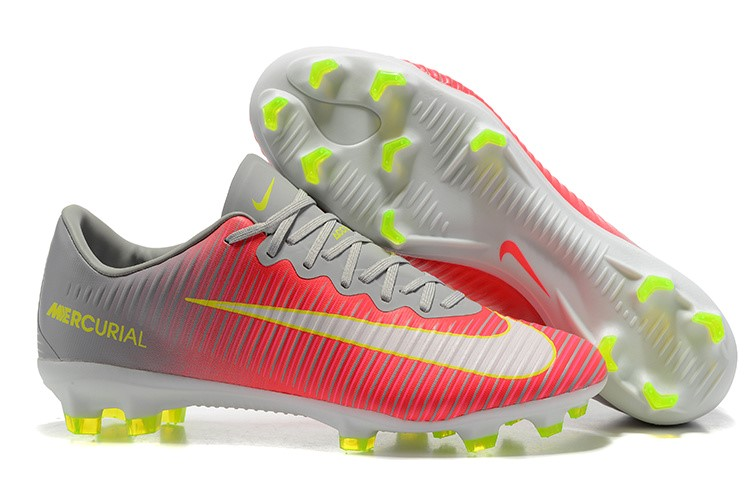 Nike Chaussure De Foot Mercurial Superfly V FG Gris Rouge Blanc